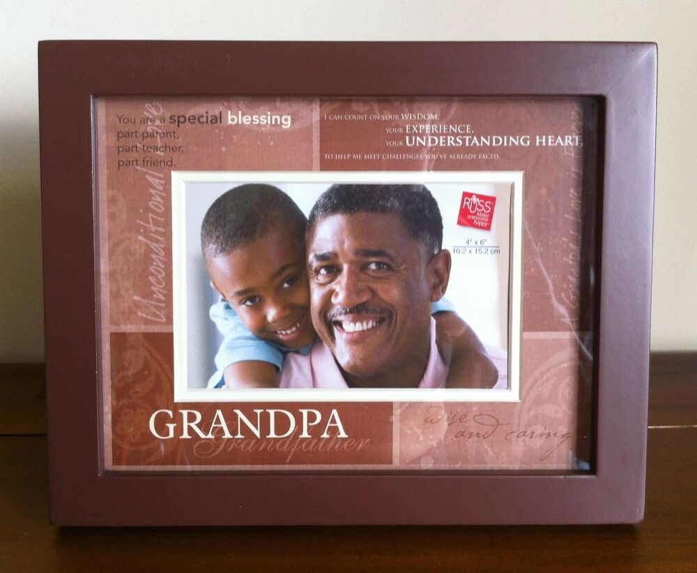 Grandpa Photo Frame/Grandfather Gift Brown Wooden Deepset FAULTY ...
