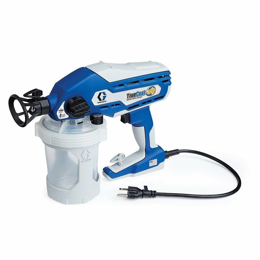 New graco 16y385 truecoat 360 electric airless paint for Air or airless paint sprayer