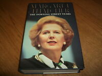 MARGARET THATCHER-THE DOWNING STREET YEARS-SIGNED x 2-1ST-1993-HB-VG/NF-V RARE