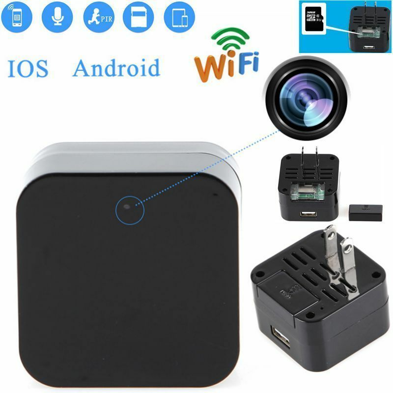 Wifi Full Hd 1080p Spy Hidden Camera Wall Charger Adapter