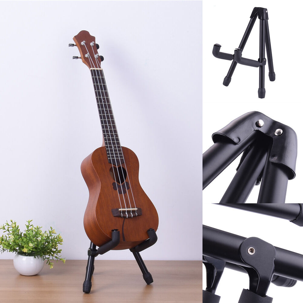 brand new portable adjustable steel stands guitar holder for ukulele violin ebay. Black Bedroom Furniture Sets. Home Design Ideas