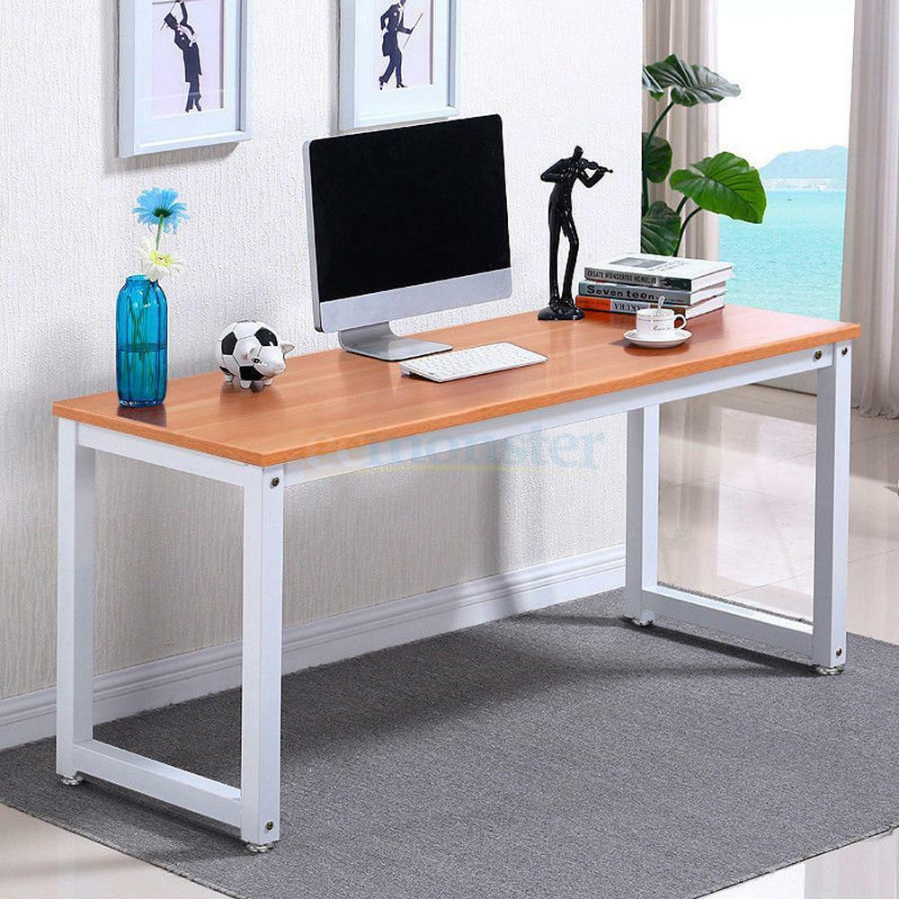 Computer desk pc laptop table wood workstation study home - Computer and study table designs for home ...