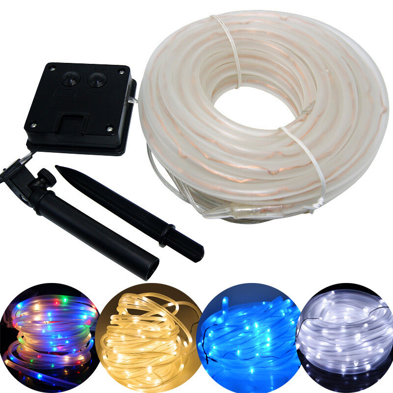 250 Solar Led String Lights : 50/100LED 23/40ft Solar Powered Waterproof Tube Flexible Rope Fairy String Light eBay