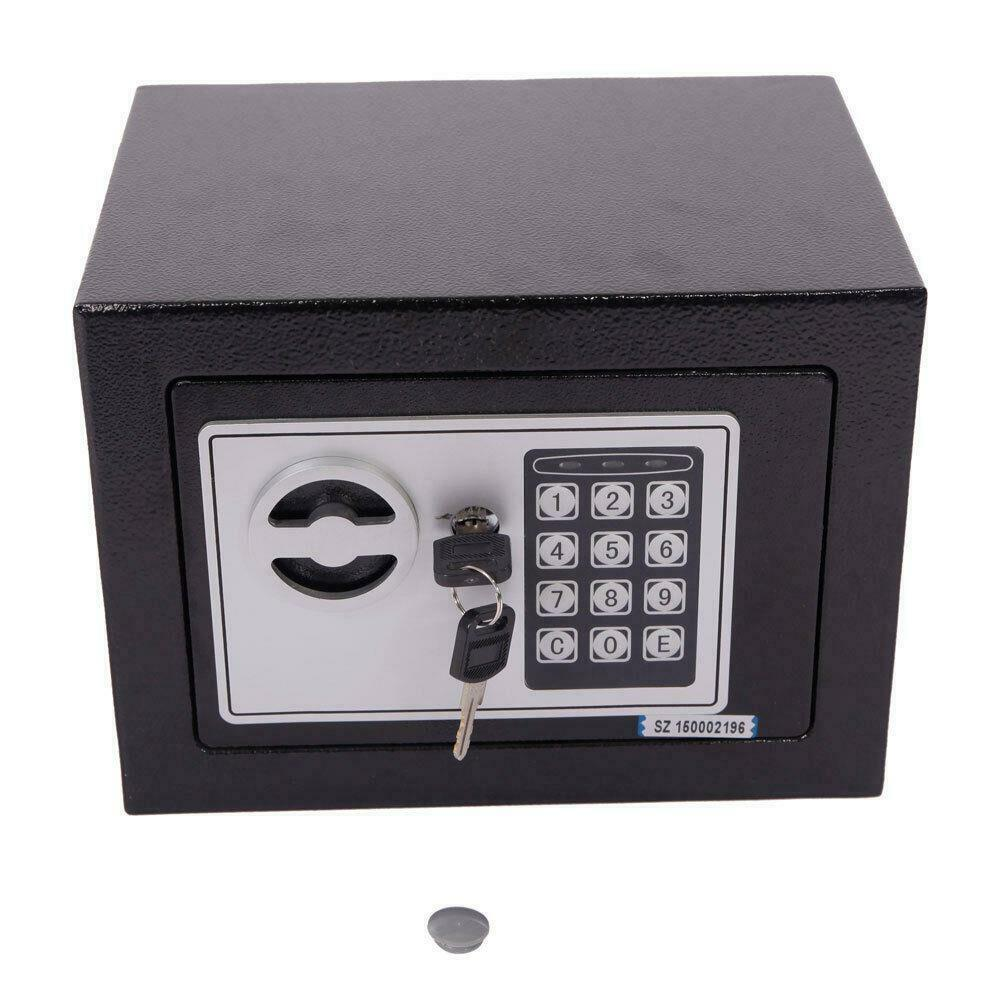 sentry digital electronic safe box keypad lock home office hotel gun steel black ebay. Black Bedroom Furniture Sets. Home Design Ideas
