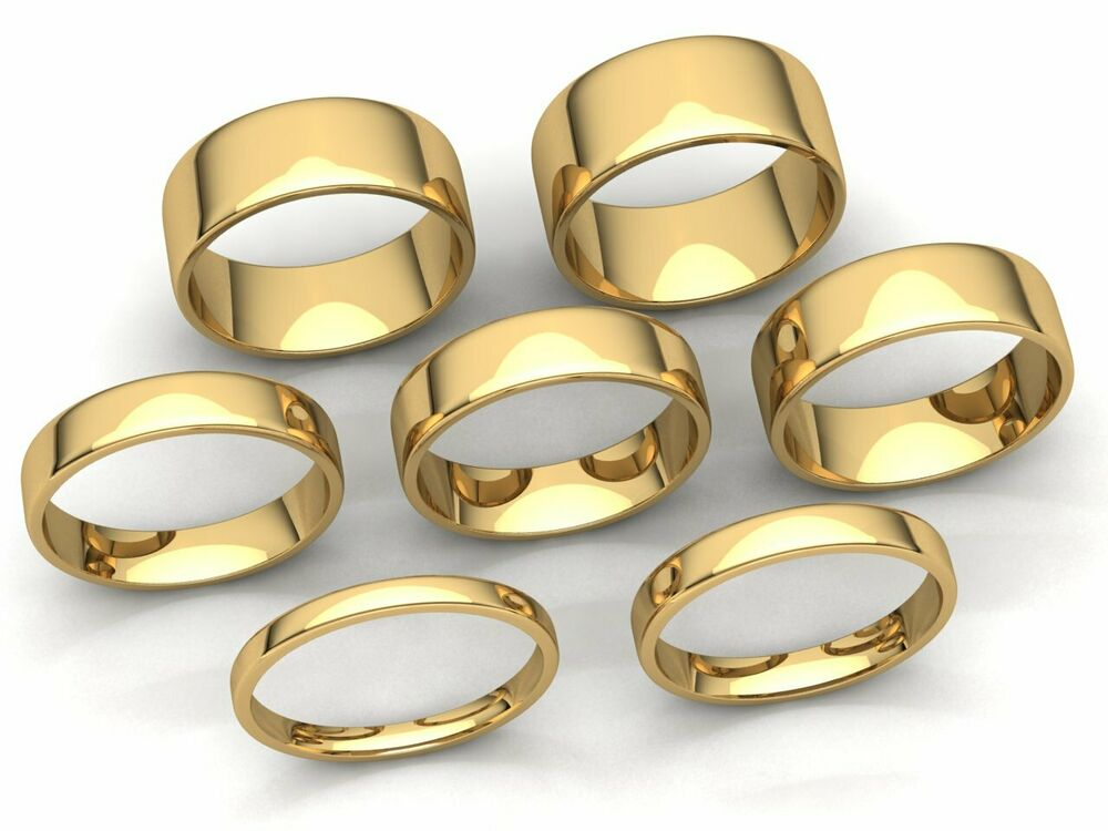 Comfort Fit EuroDome Wedding Band Ring Mens Womens 2mm-8mm ...