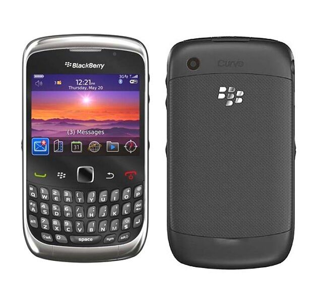 blackberry curve 9300 unlocked black gsm smartphone cell phone at t rh ebay com AT&T Torch AT&T BlackBerry Email Setup