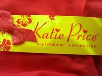 BNWT Katie Price PINK bikini Pants swimwear  -   SIZE UK  10