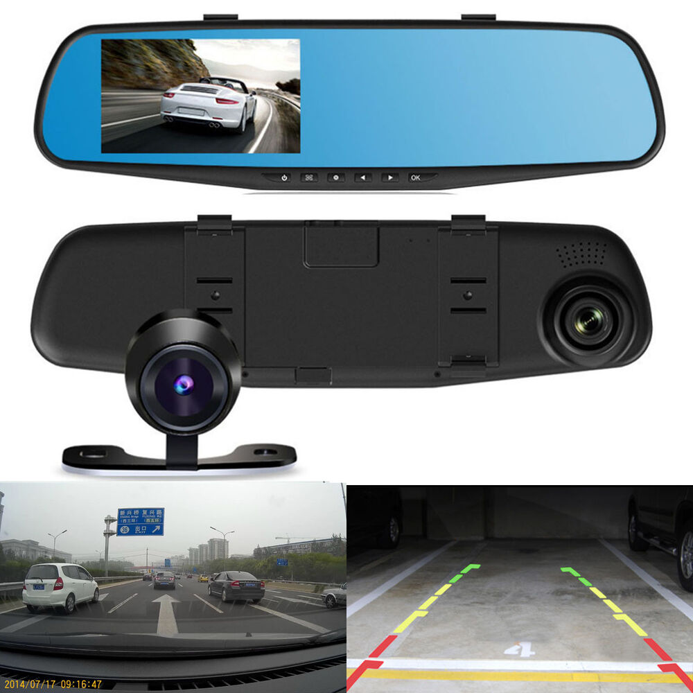 hd 1080p car dvr dash camera dual cam vehicle front rear. Black Bedroom Furniture Sets. Home Design Ideas