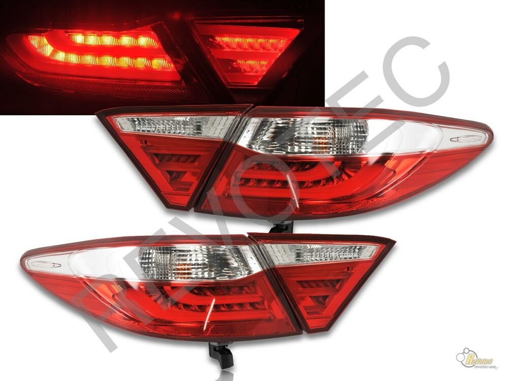 2015 2017 toyota camry 4dr sedan red clear led tail lights. Black Bedroom Furniture Sets. Home Design Ideas