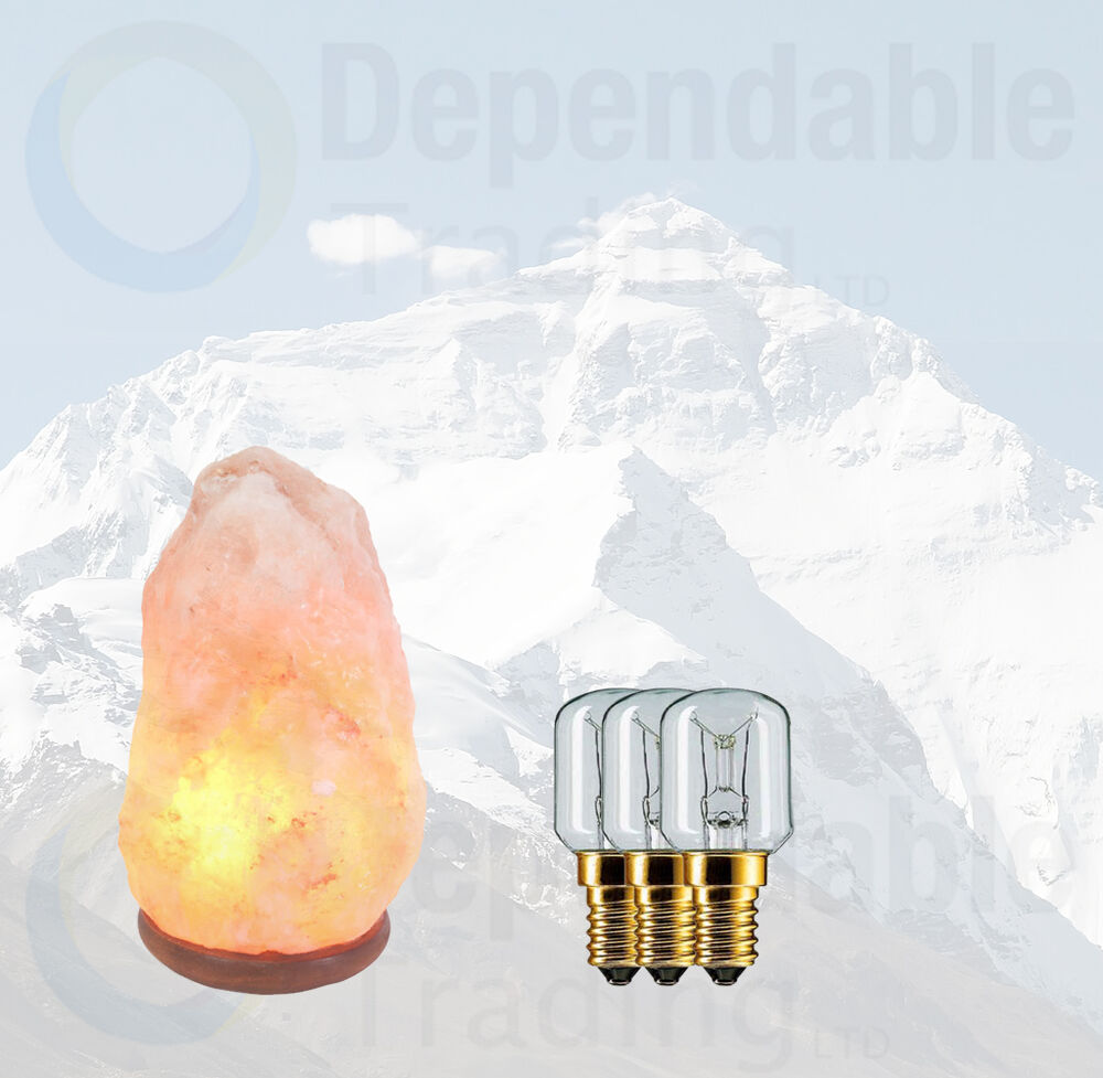 Salt Lamp Bulb Replacement : 3x15w Himalayan rock salt Replacement bulbs for lamps Small Edison Screw SES eBay