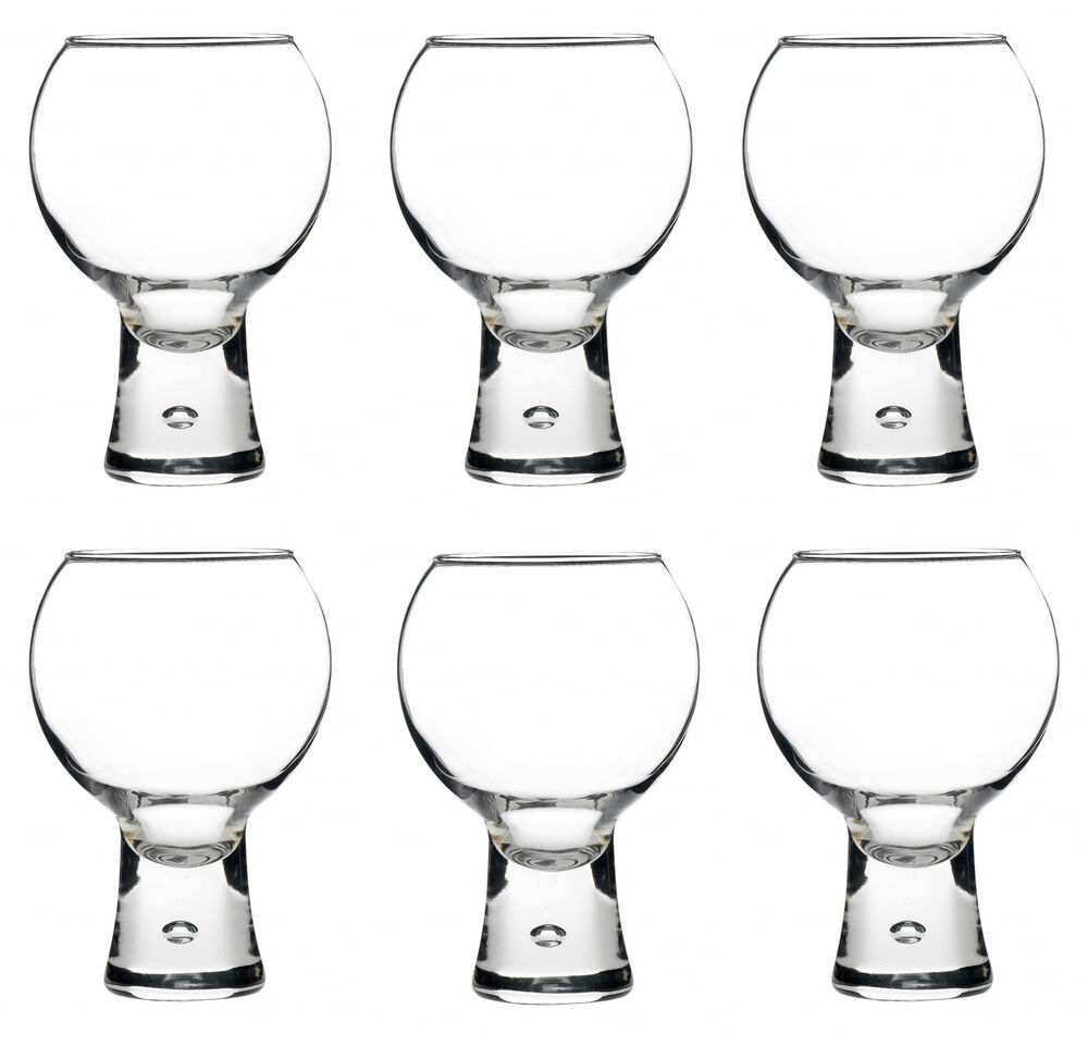 Durobor 6 X Alternato Clear Wine Gin Glasses Glass Red