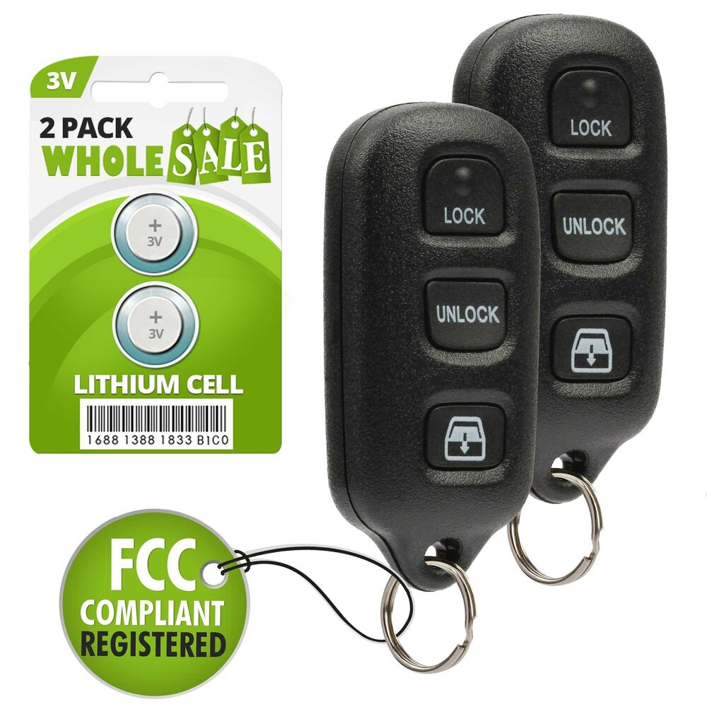 2 replacement for 1999 2000 2001 2002 toyota 4runner key fob remote ebay. Black Bedroom Furniture Sets. Home Design Ideas