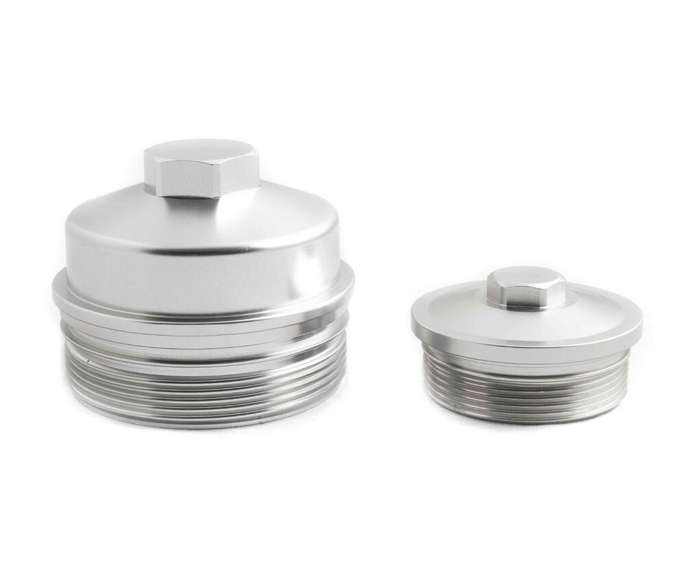 Rdp Billet Aluminum Oil  U0026 Fuel Filter Caps 03