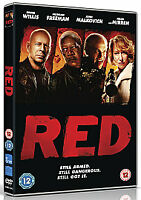 Red. DVD. Amazing Movie. All Action Drama. Top Cast. Fantastic Bargain. **£2**