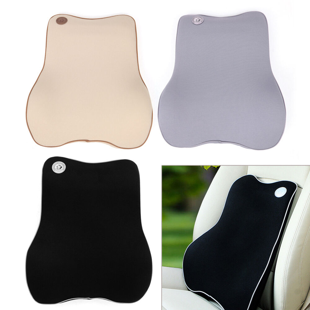 Memory foam car seat office chair lumbar support cushion for Chair pillow
