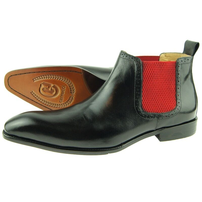 carrucci low top chelsea s pull on leather ankle