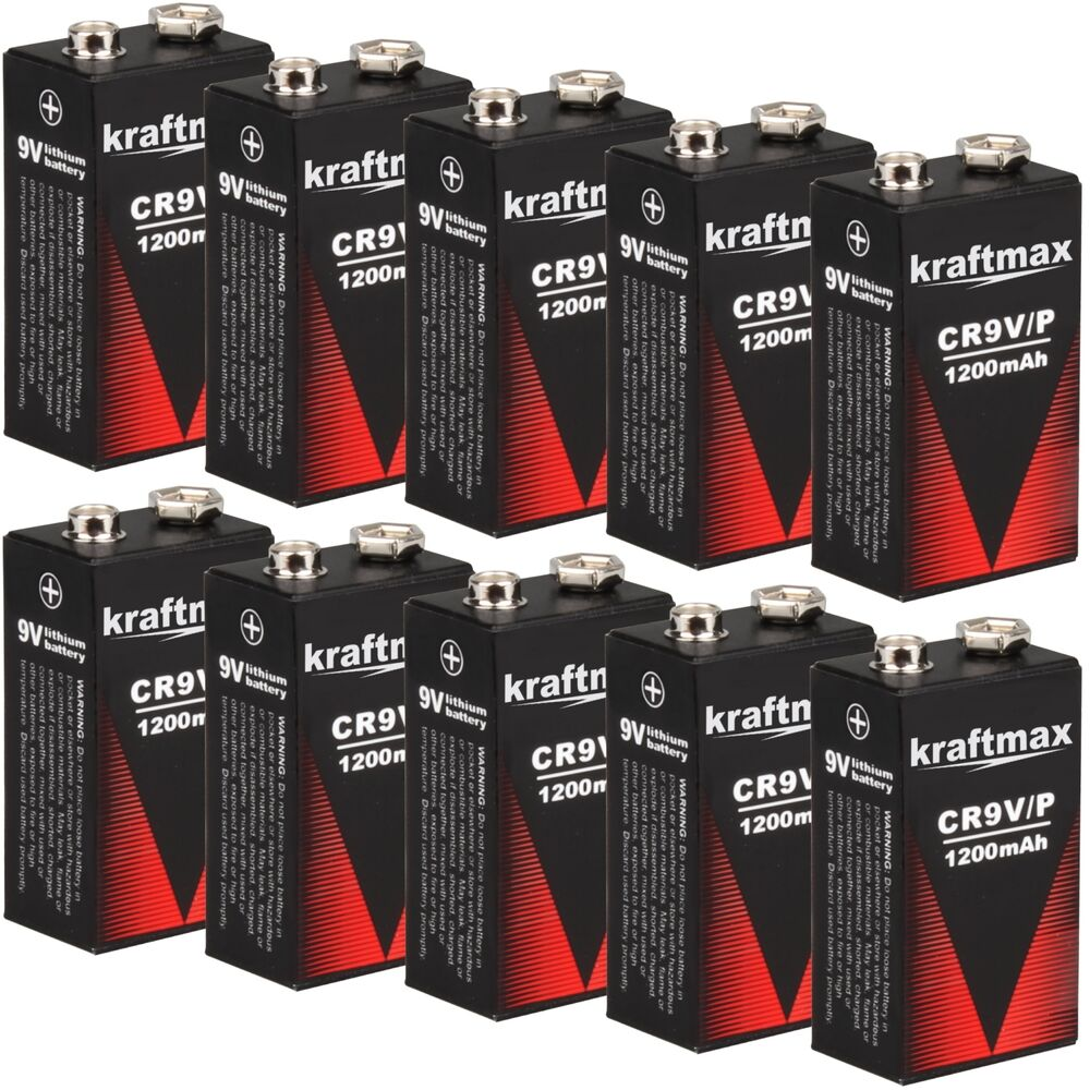 10x rauchmelder 9v lithium batterien f r feuermelder 9v block batterie 10 jahre 4051287051779 ebay. Black Bedroom Furniture Sets. Home Design Ideas