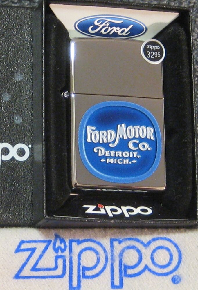 Details About Zippo Ford Lighter Motor Co Detroit Mi Built Tough New Stock Mint In Box