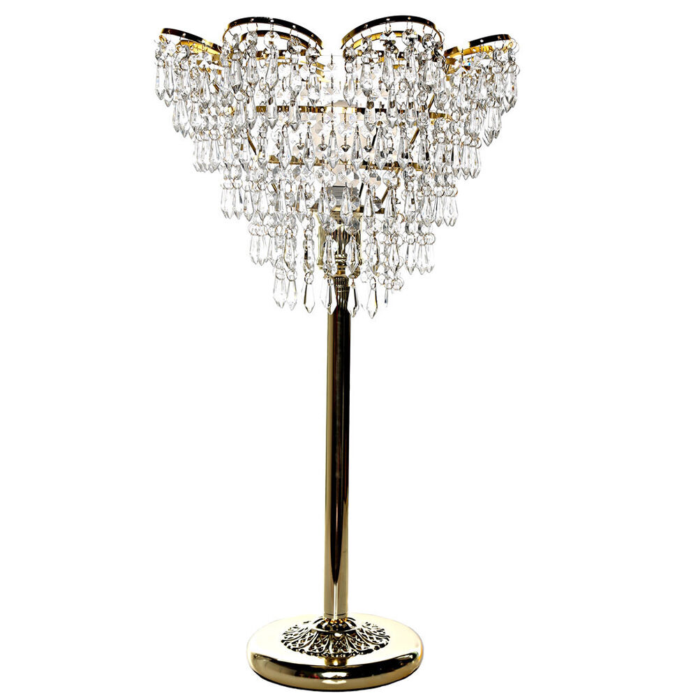 River Of Goods Cascading Crystal Golden Colored 24 Inch
