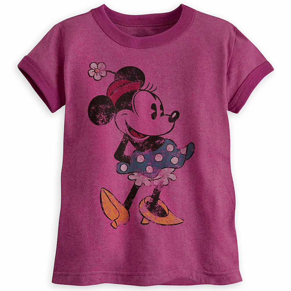 Disney store girls classic minnie mouse ringer t shirt tee for Oversized disney t shirts