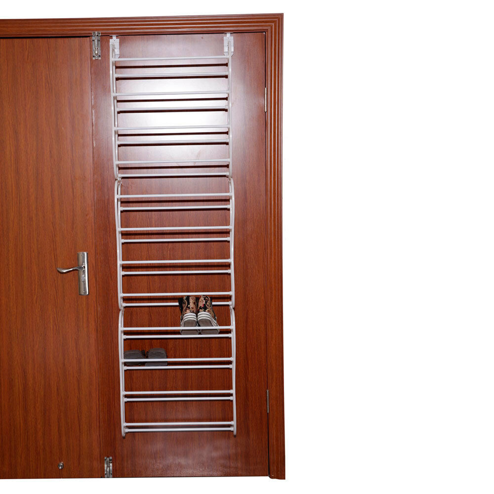 Over the door shoe rack for 36 pair wall hanging closet for Over wardrobe storage