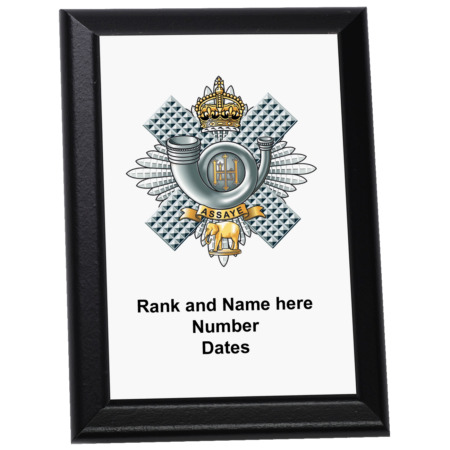 img-Personalised Wall Plaque - The Highland Light Infantry, HLI