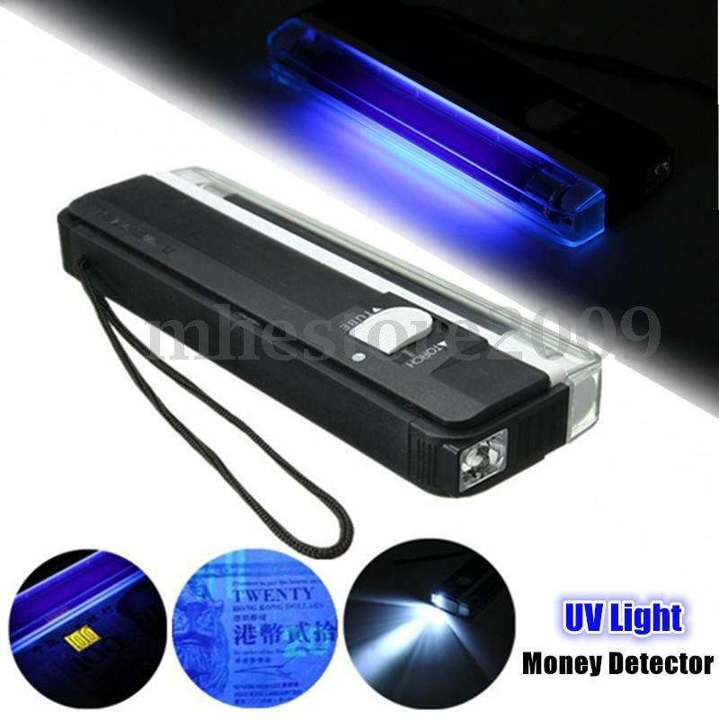 2 In 1 4w Portable Uv Ultra Violet Black Light Lamp Torch