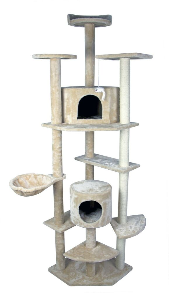 71 cat tree tower condo furniture scratch post kitty pet. Black Bedroom Furniture Sets. Home Design Ideas