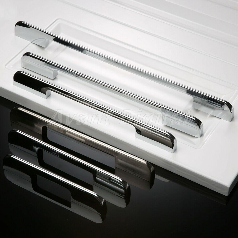 fashion modern drawer cabinet knobs simple kitchen door stainless pulls handles ebay. Black Bedroom Furniture Sets. Home Design Ideas