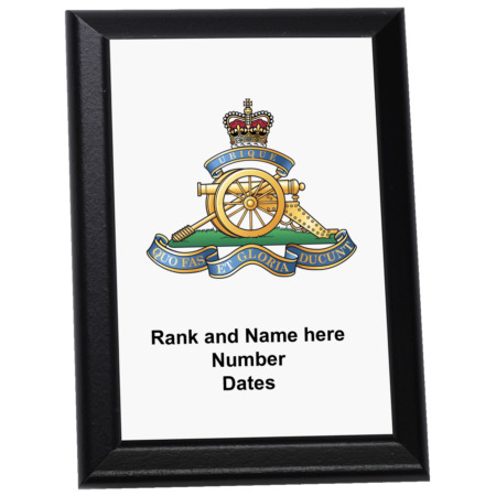 img-Personalised Wall Plaque - The Royal Regiment of Artillery