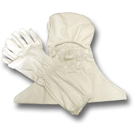 img-NEW FLAME RESISTANT ANTI FLASH WHITE HOOD AND GLOVES, GOVT ISSUE