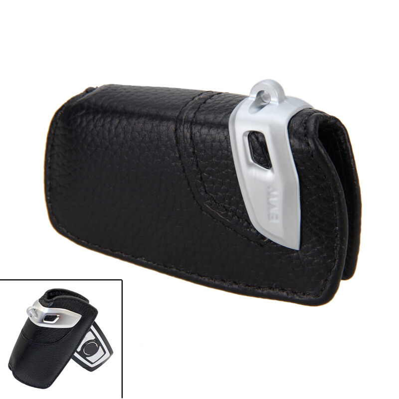 Smart Car Key Replacement >> Genuine Leather Key Fob Holder Bag Cover Case Basic line For BMW 1-7 Series X3   eBay