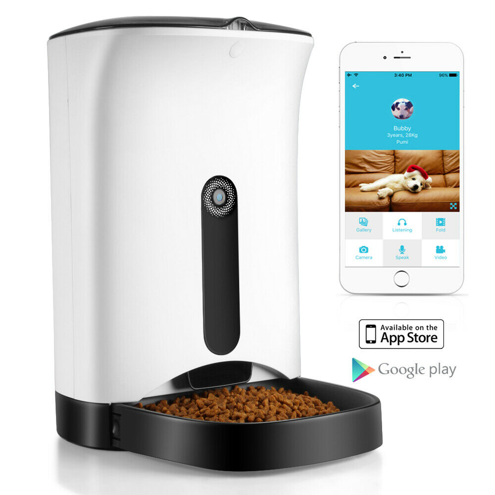 automatic pet feeder for cat ios android app wifi 87492