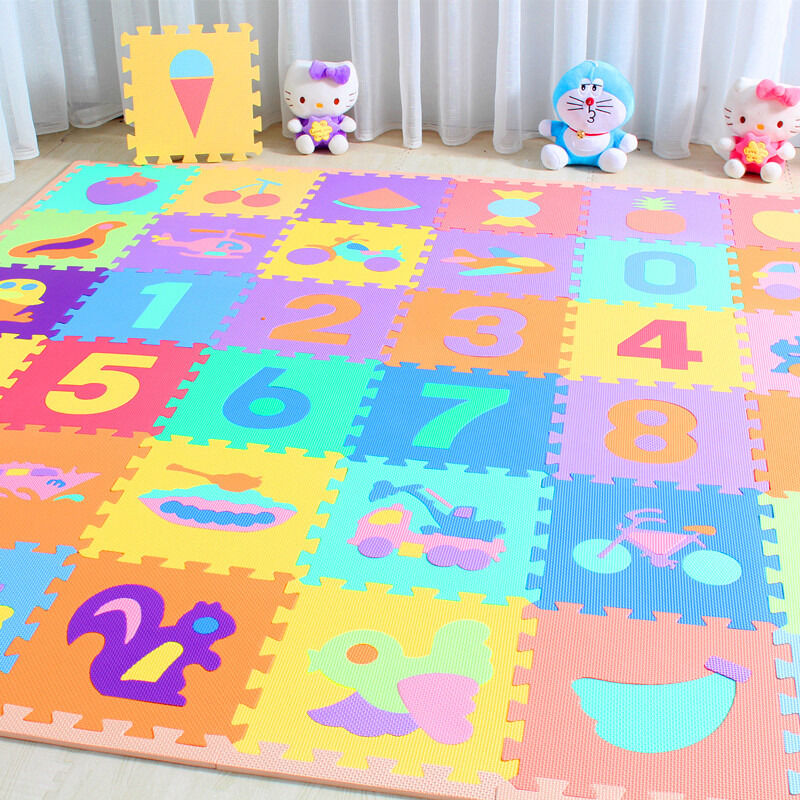 10 X Baby Soft EVA Foam Play Mat Alphabet Numbers Puzzle