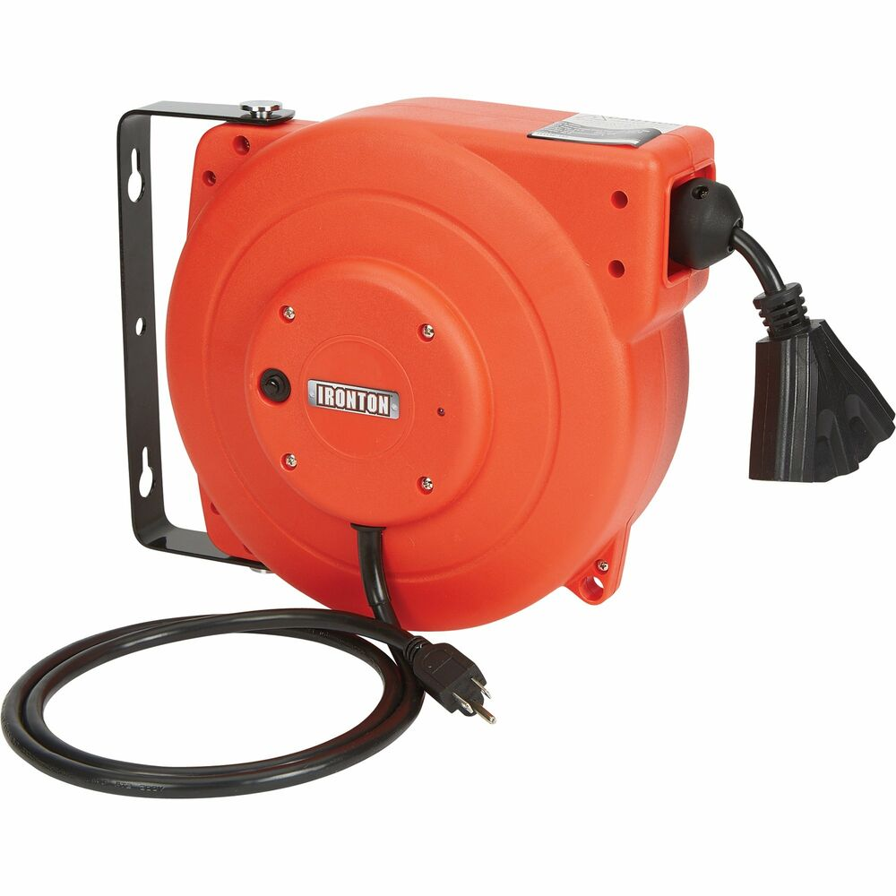 Ironton Retractable Electrical Cord Reel 40ft 12 3
