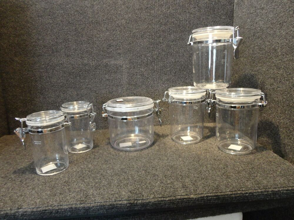 Clear Plastic Kitchen Canisters 28 Images 3 Corelle Clear Acrylic Canister Set See Thru