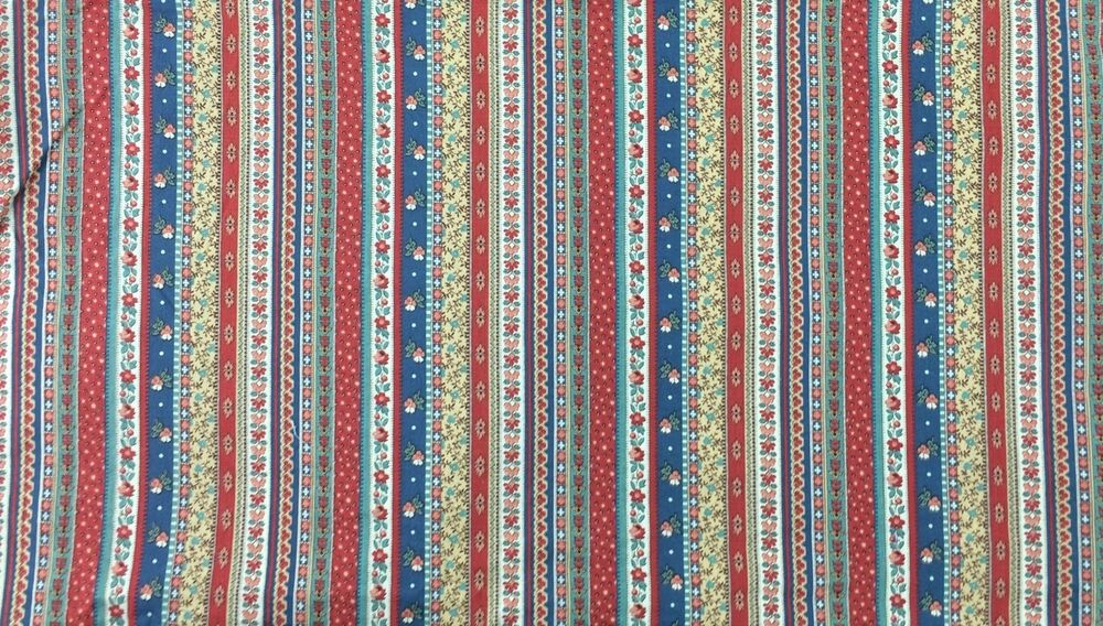 Cranston Print Works VIP Cotton Striped Calico Fabric Red