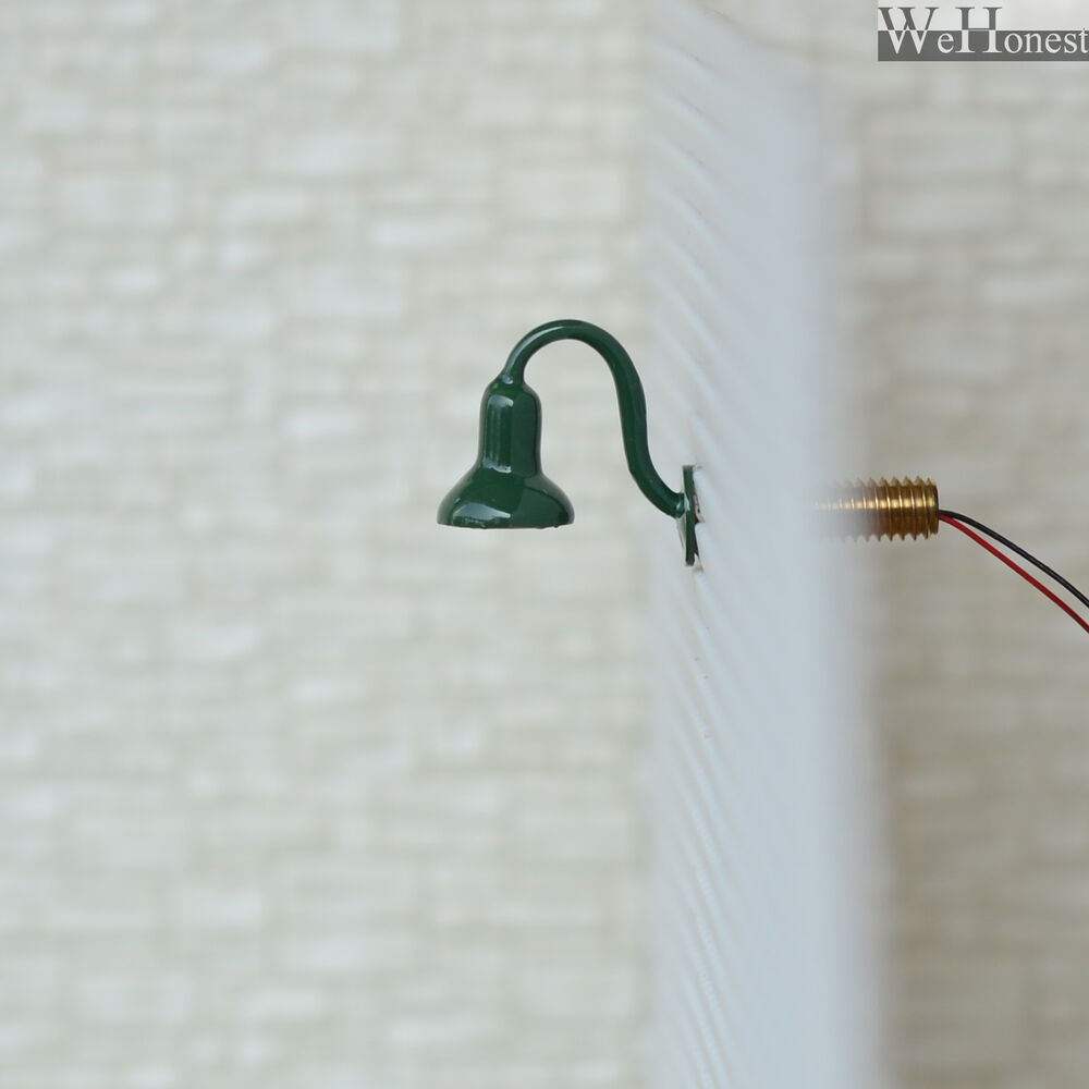 5 X OO / HO Scale Street Bracket Light Model Wall Lamp