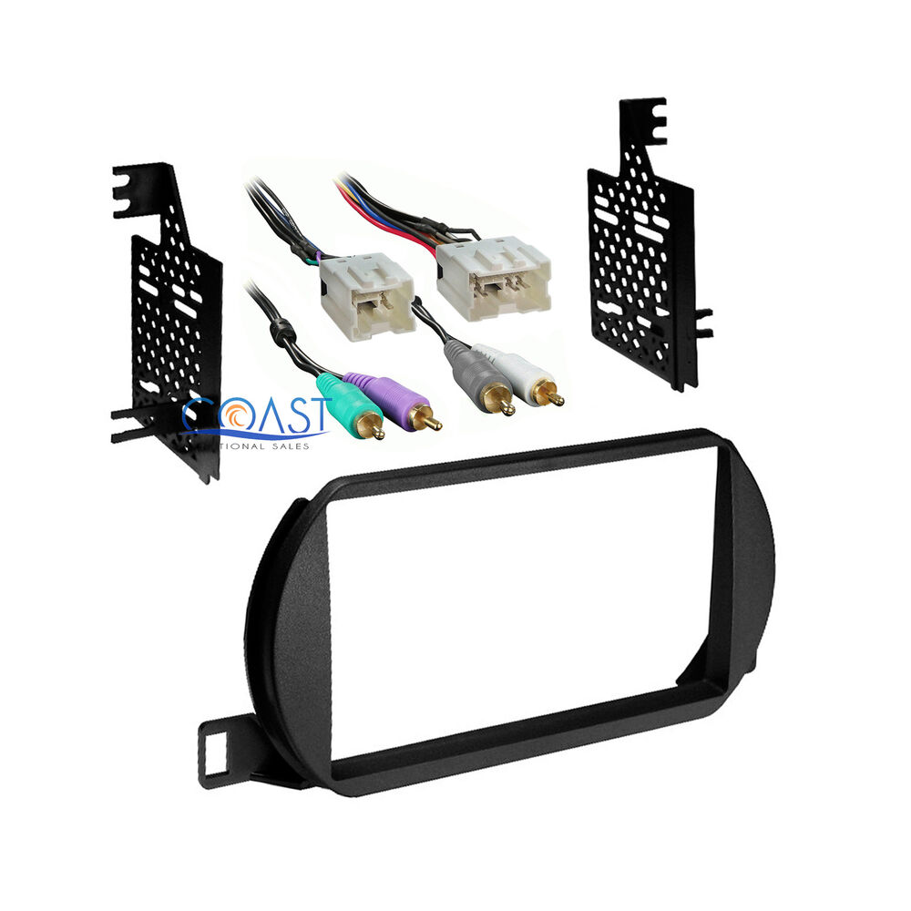 Car radio stereo double din dash kit amp harness for