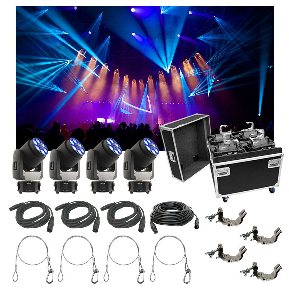 4 chauvet dj lighting intimidator trio light quad case bag clamp cable package ebay. Black Bedroom Furniture Sets. Home Design Ideas
