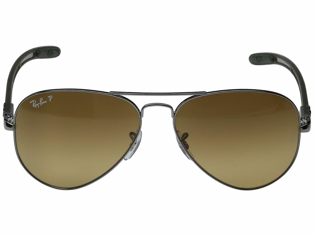 ray ban polarized sunglasses means  ray ban tech rb 8307 004/m7 carbon fiber brown sunglasses polarized 58mm new