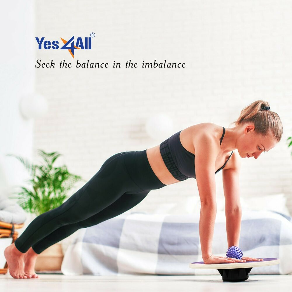 Balance Board Sport Yoga: Yes4all Wooden Balance Board Exercise Fitness Stability