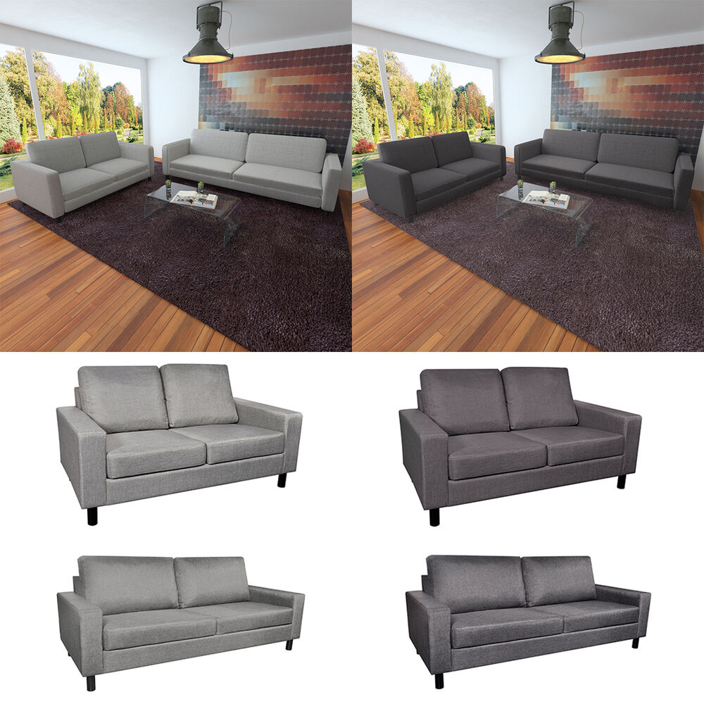 sofa stoffsofa sitzer polstersofa loungesofa couch zweisitzer sitzm bel m bel ebay. Black Bedroom Furniture Sets. Home Design Ideas
