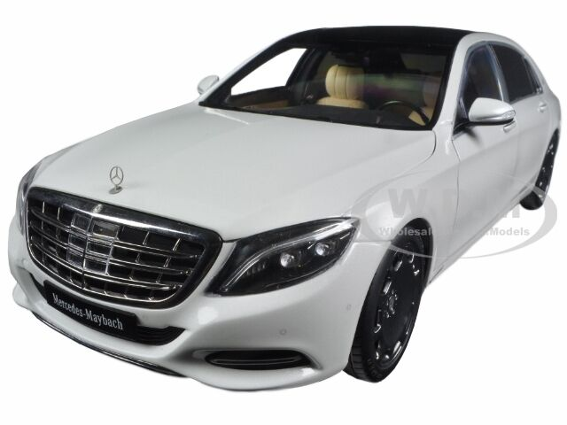 Mercedes maybach s class s600 white 1 18 model car by for Mercedes benz s600 ebay