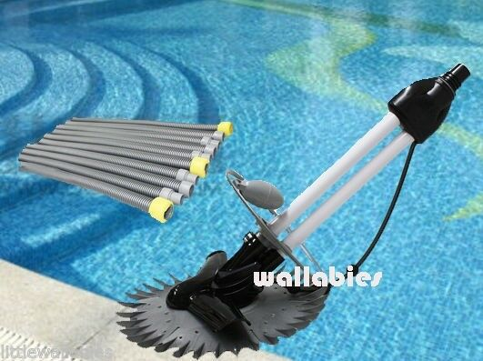 New Inground Automatic Swimming Pool Vacuum Cleaner Hover Wall Climbs W Hoses Ebay