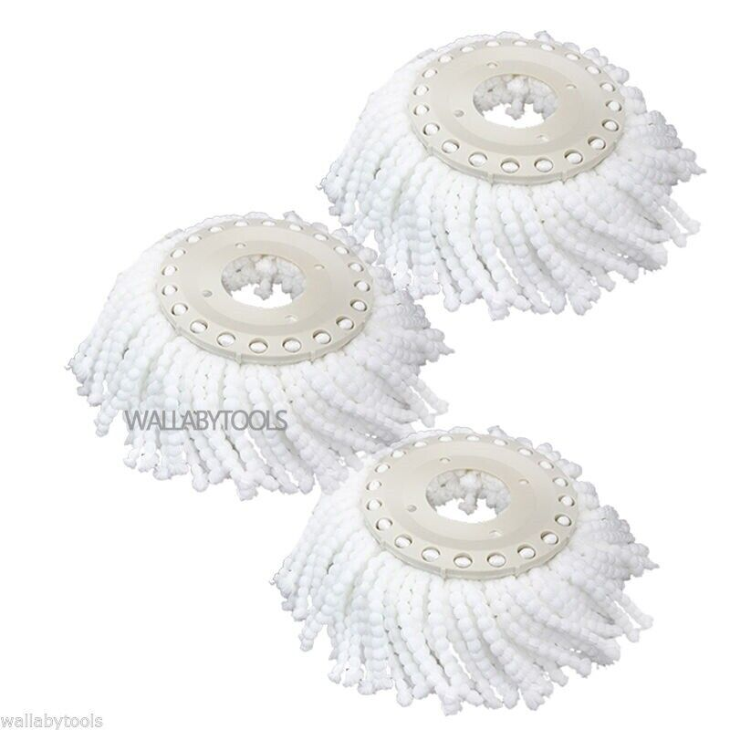 Lot 3 Replacement Microfiber Mop Head Refill For