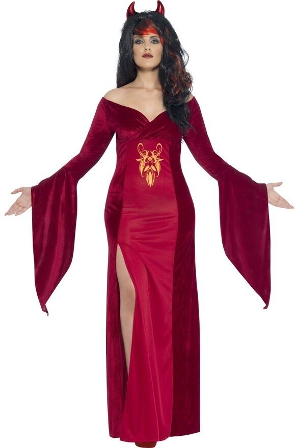 Ladies Plus Size Red Devil Vampire Halloween Fancy Dress Costume