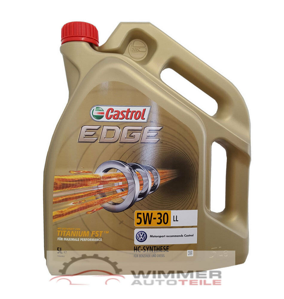 5 liter castrol edge fst titanium 5w 30 motor l vw 50400. Black Bedroom Furniture Sets. Home Design Ideas
