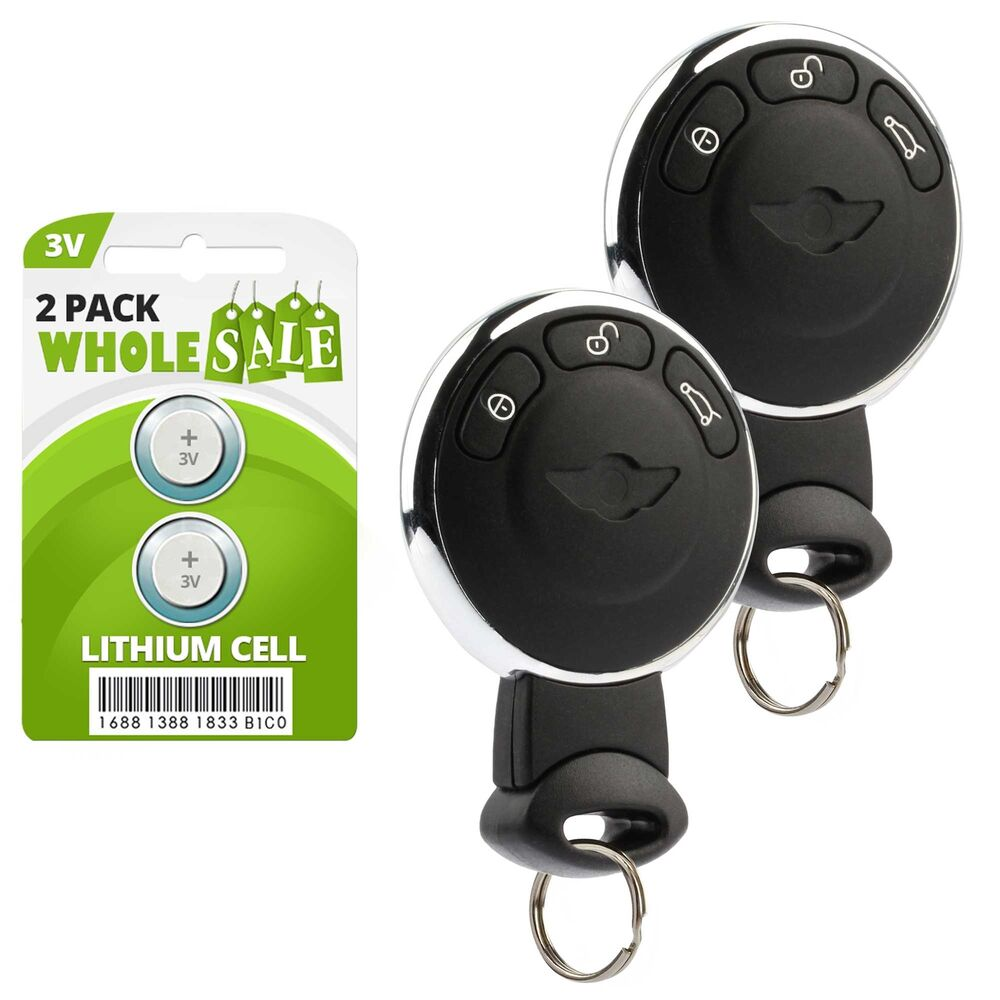 2 replacement for 2007 2008 2009 2010 mini cooper key fob remote 39294316993 ebay. Black Bedroom Furniture Sets. Home Design Ideas