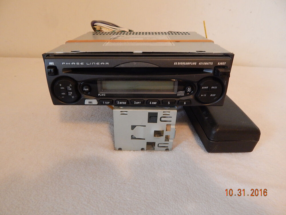 phase linear am fm stereo cd player pl412 auto car truck in dash ebay. Black Bedroom Furniture Sets. Home Design Ideas